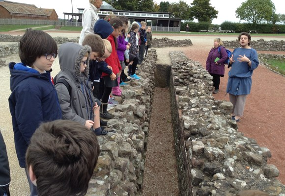 Year 4 trip to Wroxeter Roman City